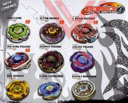 Beyblade Metal Fusion Toy Sets Canada - Beyblade Metal Fusion 4D System LOOSE Battle Top Lot Set Masters Kids Game Toys Children Christmas Gift with Retail Packaging
