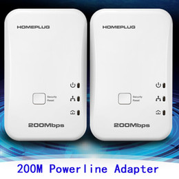 Wholesale 2pcs Mbps Powerline Adapter Wall mount Ethernet Network Homeplug Electric Adapter communication network adapters fast stable signals