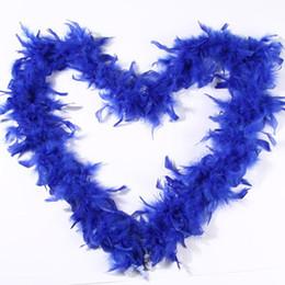 Feather Boa White UK - Feather Boa Royal Blue Feather Boa Wrap Wedding Ceremony Boas White Marabou for Costumes Decor Chandelle Feather Boas Fast Shipping
