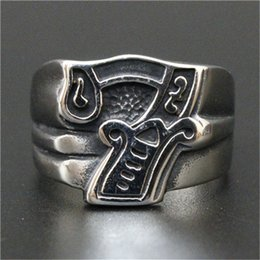 Stainless Steel Boy Ring NZ - 1pc Fast Free Shipping Silver Number 7 Ring 316L Stainless Steel Popular Punk Cool Man Boy Hot Ring