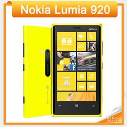 3g 4g unlocked cell phones UK - Original Lumia 920 Unlocked 3G 4G Nokia 920 Windows Mobile Phone ROM 32GB 8.7MP GPS WIFI Bluetooth refurbished cell phone