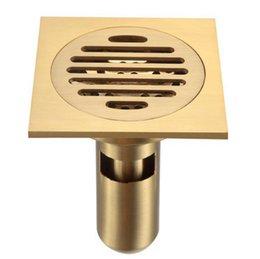 Drain de sol pour douche de salle de bain avec crépine amovible, laiton poli 4