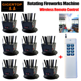 auto remotes Canada - Free Shipping 8pcs lot+1pcs Wireless Remote Console Rotating Fireworks Machine DMX 512 8Chs Control Cold Fireworks TP-T12B