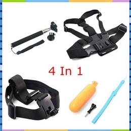 $enCountryForm.capitalKeyWord Canada - 4 in 1 Action Cam Accessories Bundles Mount Kit Floating Grip + Head Strap + Chest Belt Head + Monopod Tripod Mount For SJCAM Sport Camera