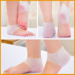 Gel Inserts For Heels Canada - New Practical Shoes Accessories Comfortable Gel Heel Inserts Moisturising Heel Protectors for Foot care Free Shipping