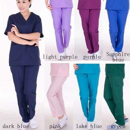 Wholesale nurses uniforms for sale - Group buy Women Nursing spa beauty salon uniform design nursing scrub long sleeve work uniform health care seven colors Elastic pants