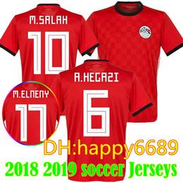 e4ca2c986 New 2018 Egypt Jersey soccer M. SALAH world cup Home Red 18 19 KAHRABA  national team men short sleeve footbal SHIRT maillot de foo customize