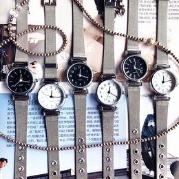 bracelet tags 2019 - Hot Sale 2019 New Simple Fashion Female Clocks Women Luxury Quartz Watch silver Stainless Steel Dress Watches Bracelet C