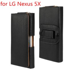 Leather Belt Holster Case NZ - Wholesale Newest Waist Case Holster PU Leather Belt Clip Pouch Cover Case For LG Nexus 5X Phone Bag Free