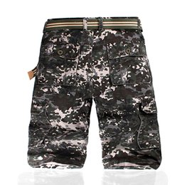 Barato Calça Comprida Tamanho 28-Four sons army green grey Multi-Pockets Utility Casual Loose Long Full Length Cargo Pants Work Trousers Camouflage Size 28-42 calças longas
