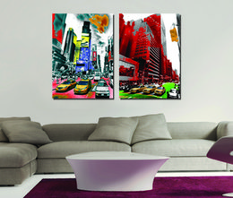 $enCountryForm.capitalKeyWord Australia - 2 Pieces Free shipping Home decoration Paint on Canvas Prints Golf lighthouse piano Times Square Brooklyn Bridge British flag Felucca boat