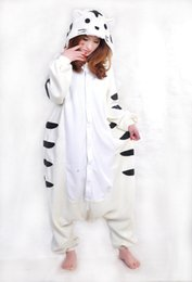 Barato Onesie Do Tigre Dos Adultos-Fashion New Designer Cosplay kawaii Animal Anime com tigre Pijamas Adulto Unisex macacão Onesie Poliéster Polar Polar One Piece Pijamas