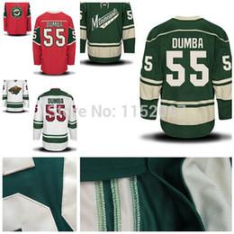 8030968af ... Minnesota Wild Matt Dumba Jersey 55 Wholesale Cheap Ice Hockey Jerseys  Matt Dumba Green Red White ...