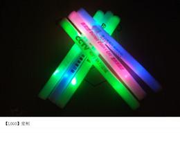 Led foam sticks online shopping - Colorful sponge flash LED glow single color foam fluorescent stick concert live supplies