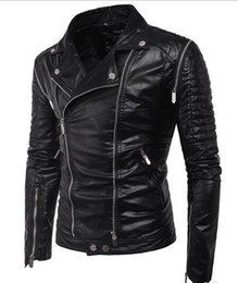 $enCountryForm.capitalKeyWord NZ - Men Bomber PU Jackets Plus Size Motorcycle Mens Jacket Outwears Black British Multi Zippers Style Men Racing Winter Faux Jackets T170722
