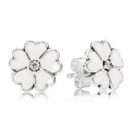 $enCountryForm.capitalKeyWord Canada - Primrose Silver Stud Earrings with Cubic Zirconia and White Enamel Elegant Pandora Style Earrings for Women ER004