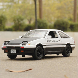 $enCountryForm.capitalKeyWord Canada - 1:32 scale alloy pull back car model High imitation Toyota AE86 die-casting metal model toys 4 doors can open music flash toy vehicles