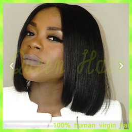 $enCountryForm.capitalKeyWord Canada - 2015 New Full lace wig glueless human hair lace front short bob wigs for black women Unprocesseed virgin brazilian hair wig
