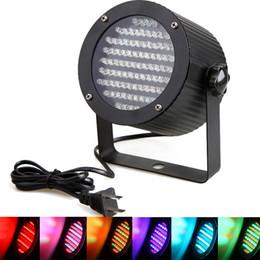 Discount master plug - Professional LED Stage Light 86 RGB LED Light DMX Lighting Laser Projector Stage Party Show Disco US Plug