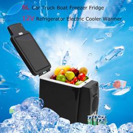 Vente en gros 2017 Multifonction Portable 6L De Voiture Réfrigérateur Refroidisseur-Réchauffeur De Voiture Réfrigérateur Refroidisseur-Réchauffeur Congélateur Mini Véhicule pour Voyage Camping En Plein Air