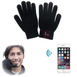 Spring Gloves Canada - Hi Call Bluetooth Gloves Talking Gloves Touch Screen Gloves For Cell Phones Moblie Phones Hands-Free Touch Function