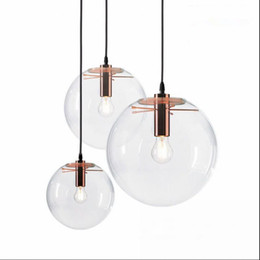 Chinese  Selene Pendant Glass Light by Sandra Lidner Replica Clear Glass E27 Pendant Lights Pendant Lamps Lighting Rose Gold  Black Hanging Light manufacturers