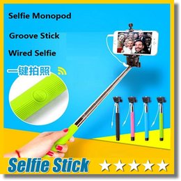 $enCountryForm.capitalKeyWord Canada - Updated Version Groove Z07-5s Cable take pole Handheld Camera Monopod Wired Selfie stick For IOS Android