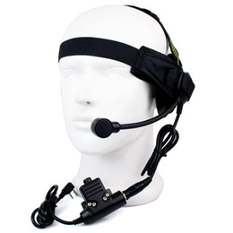kenwood pin headset 2019 - Wholesale-HD02 Z Tactical Bowman Elite II Headset with U94 Style PTT for Kenwood 2 way Radios Walkie Talkie 2 Pin cheap