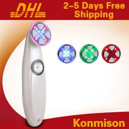 Portable Photon Skin Machine Canada - Portable RF Galvanic Photon Facial Massage Machine For Wrinkle Removal Skin Rejuvenation 3 In 1
