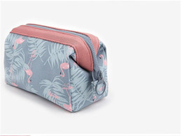 Folding storage cubes online shopping - Makeup Storage Bags With Multicolor Pattern Flamingo Cute Cube Cosmetics Pouchs zipper For Travel Ladies Pouch Women Cosmetic Bag