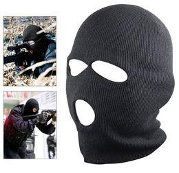Discount ski mask hats - New Black Balaclava SAS Style 3 Hole Mask Neck Warmer Paintball Fishing Ski Hat