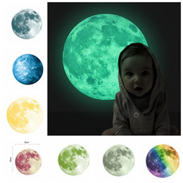 Wall sticker earth online shopping - 30cm Planet Wall Decals Luminous Wall Stickers Glow In The Darkness Earth Decals For Kids Rooms Wall Decoration sticker KKA3467