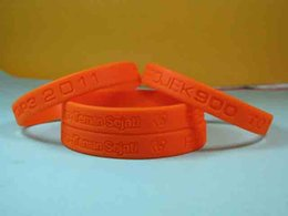 custom carvings Australia - Custom Silicone Wristband Personalized Carved Logo & Text Solid Color Bracelet Promotion Gift