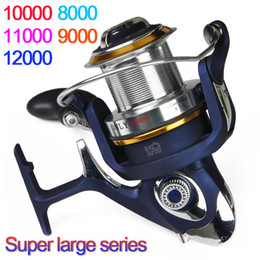 Bait Cast Reels Canada - High Quality saltwater 8000 - 12000 Series 9+1BB Spinning fishing reel Cheap Saltwater Surf casting reel best saltwater fishing reels
