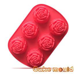 $enCountryForm.capitalKeyWord UK - silicone chocolate mold Heat assistance soap mold red rose shape Cake Baking Mold Ice Cube Trays Silicone Baking Cupcake 6 Cavties CMR01