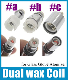 $enCountryForm.capitalKeyWord Canada - Dual wax Coil ceramic rod replacment Core head e cigarette atomizer wax dual coil head for Cannon Bowling Vase Glass Globe Tank FJ026