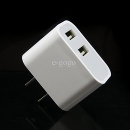 Wall Dual Ac Charger Canada - Universal 2.1A Travel Wall Charger Plug US EU Dual USB AC Power Adapter 2 ports for iphone 5 5s 6 plus for Samsung HTC