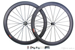 Road Bicycle Wheel Sets Australia - carbon bicycle wheels 50mm 700C basalt brake surface clincher tubular road cycling bike wheelset novatec Hub width 25mm 3k matt