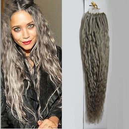 Micro loop extensions 26 curly online curly micro loop hair silver gray hair extensions kinky curly micro bead hair extensions 100g micro loop human hair extensions pmusecretfo Images