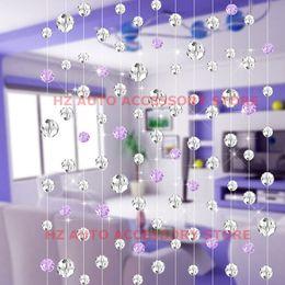 $enCountryForm.capitalKeyWord Canada - 10 meters 10pcs glass crystal beads curtain fashion luxury Home Living Room Bedroom Decoration Wedding Decoration centerpiece