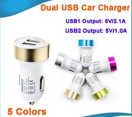 Usb Auto Car Canada - matte Micro Auto metal Dual USB Car Charger For iPad air iPhone 6 samsung S6 note 5 5V 2.1A Mini Adapter