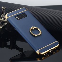 Branded metal leather card holder online shopping - Eletroplating in Phone Case Finger Stand Holder Protective Cover for iPhone Plus Samsung S8 S8 Plus Note