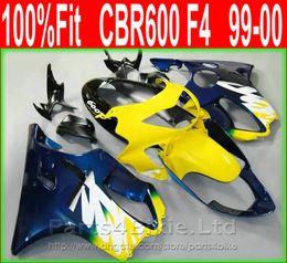 $enCountryForm.capitalKeyWord NZ - Blue yellow Fullset Motorcycle fairing parts for Honda 99 00 CBR600 F4 aftermarket bodykit CBR 600 F4 1999 2000 fairings kit+7Gifts XIOS
