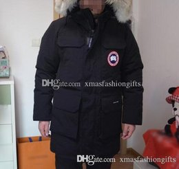 Barato Homens S Casacos De Inverno Designer-Fashion Brand Designer Winter Expedition Parkas Canadá Zippers Down Jacket Homens Design Warm Coat Outdoor Coats XXXL Comprar Plus Size