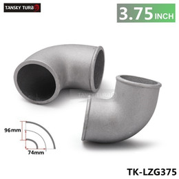 "Discount hose tansky - TANSKY -High Quality Universal 96mm 3.5"" Cast Aluminum Elbow 90 Degree Pipe Turbo Intercooler coupling TK-LZG375"