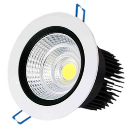 China Dimmable 3w 5w 7w 10w 15w 20W 30w LED down light COB downlights round LED recessed ceiling down lights LED spotlight bulbs LLFA supplier bathroom spotlight bulbs suppliers