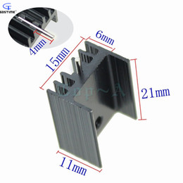 Wholesale Aluminum Heatsink mm TO Triode Transistor Radiator Black TO220 Special
