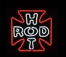 """Car Bar Signs Canada - Hot Rod Neon Sign Modificated High-speed Car Store Shop Repair Advertisement Display Sign Custom Handcrafted Real Neon Light 17""""X14"""""""