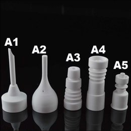 $enCountryForm.capitalKeyWord Canada - Porcelain Bowls Nail 14.4mm 18.8mm Universal Ceramic Nail White 14mm 18mm Ceramic Nail for Male Joint Bongs Waterpipes BGC for Smoking
