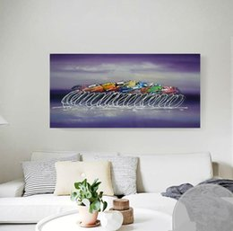 $enCountryForm.capitalKeyWord Canada - Handpainted Oil Painting on Canvas Modern Home Decor Wall Art Bicycle Abstract Graffiti Paintings and Pictures Purple Color